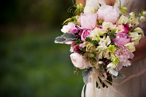Pink Ranunculus and Peony Bouquet