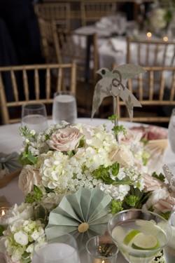 Pink and Green Birds and Pinwheels Wedding Ideas