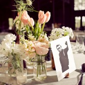 Pink and White Spring Centerpieces Wedding Ideas