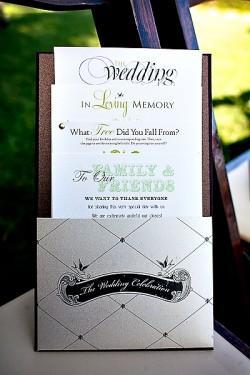 Pocket Wedding Program
