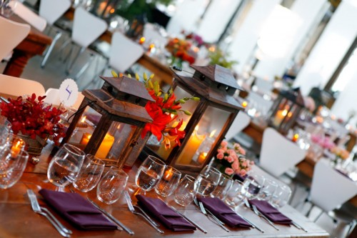 Red and Purple Centerpiece Ideas