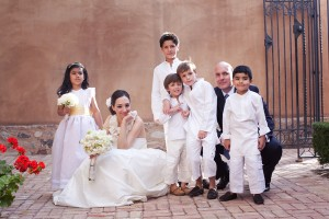 Ring Bearers and Flower Girls Dressed in White