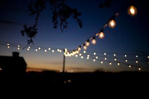 String Lighting at Wedding Reception