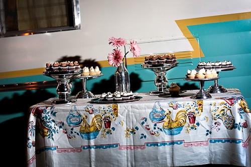 Vintage Dessert Display Wedding Ideas