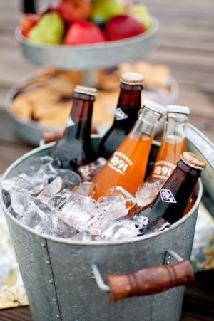 Vintage Soda in Galvanized Bucket