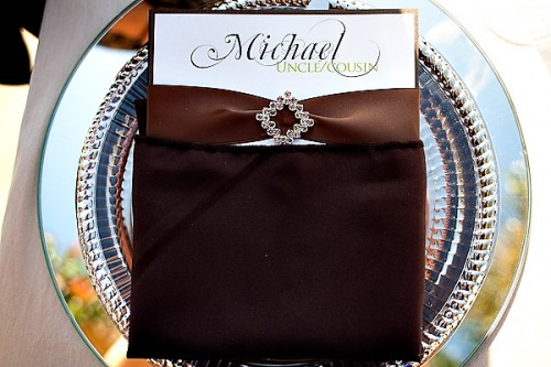 Wedding Menu on Silver Charger