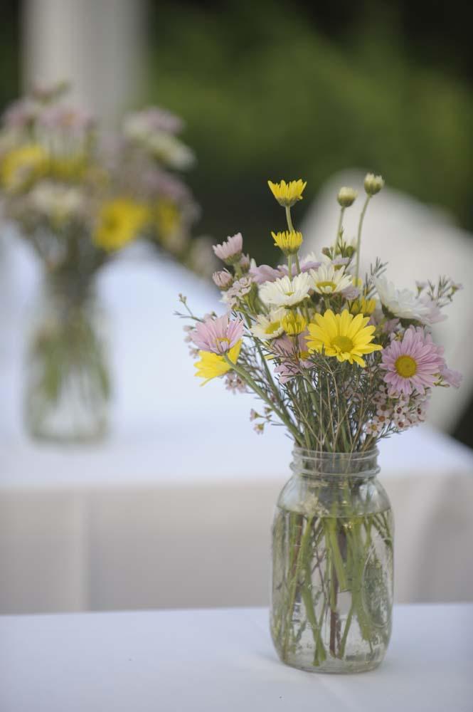 Wildflower Centerpiece Wedding Mason Jar