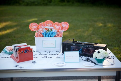 1980s High School Theme Wedding Ideas-17