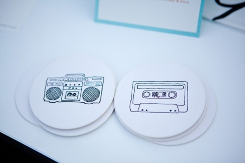 80s Theme Wedding Coasters