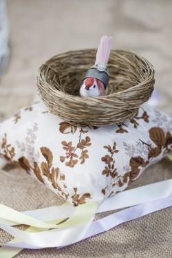Birds Nest Ring Pillow