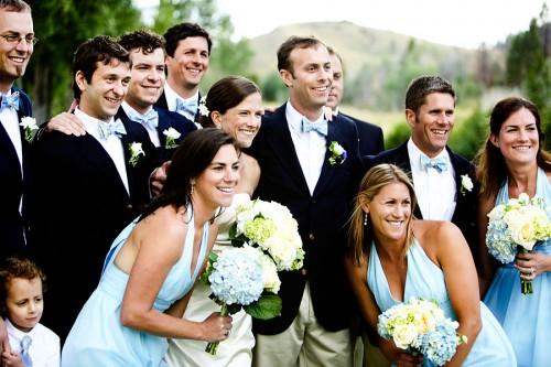 Blue Hydrangea Summer Wedding