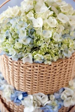 Blue Hydrangea Wedding Cake Topper