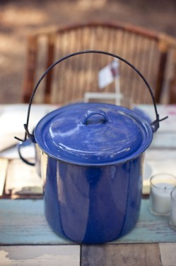 Blue Speckled Dinnerware