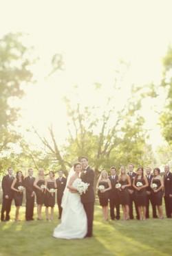 Bridal Party Dressed in Black