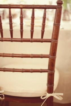Brown Chivari Chairs with White Cushions