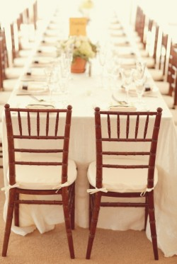 Brown and White Wedding Reception