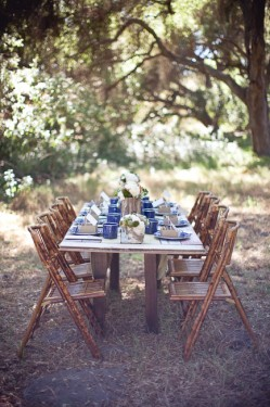Camping Theme Rustic Wedding Table