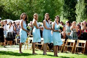Casual Sky Blue Bridesmaid Dress
