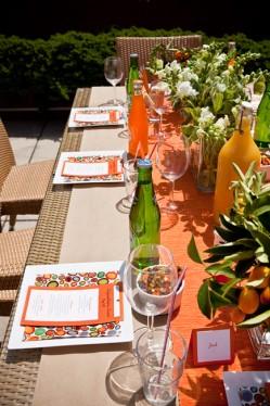 Citrus Picnic Table