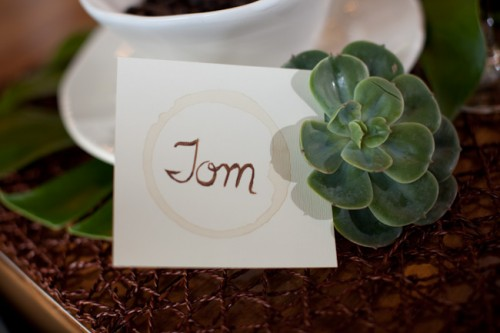 Coffee Stained Place Cards