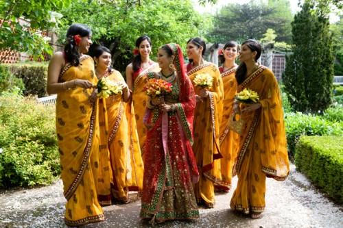 Colorful Indian Bridesmaids