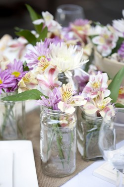 Colorful Spring Centerpieces