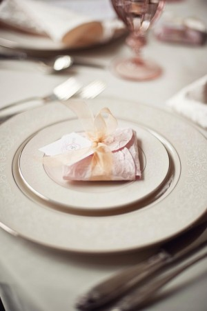 Cookie Wrapped in Decorative Paper Wedding Favor Ideas