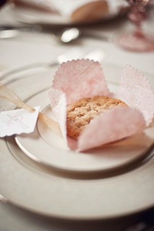Cookie Wrapped in Decorative Paper Wedding Favors