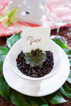 DIY Coffee Stained Place Card