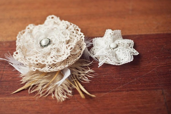 DIY Fascinator with Lace Roses
