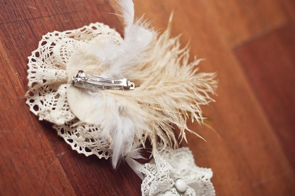 DIY Hairpiece with Lace Roses