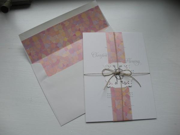 tied wedding invitation