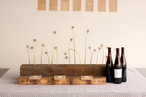 Dandelion Wedding Centerpiece