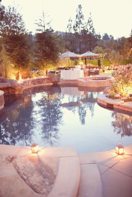 Elegant Backyard Wedding Reception elegant backyard wedding reception - elizabeth anne designs: the