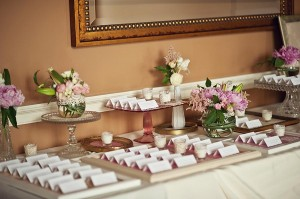 Escort Cards on Decorative Picture Frames