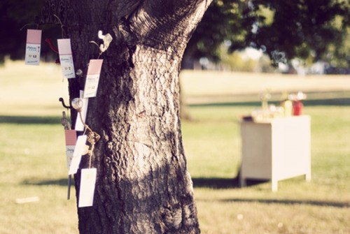 Escort Cards on Tree-3