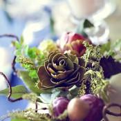 Fall Floral Garland Wedding Centerpiece