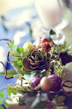 Fall Floral Garland Wedding Centerpiece