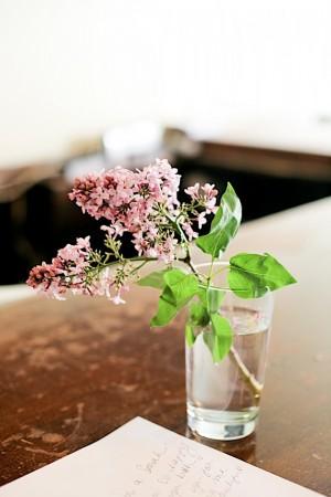 Flowers in Water Glass