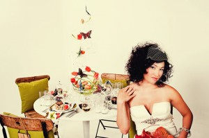 Funky Modern Butterfly and Tulip Wedding Ideas
