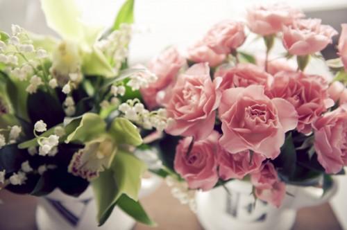 Garden Rose Miniature Centerpieces