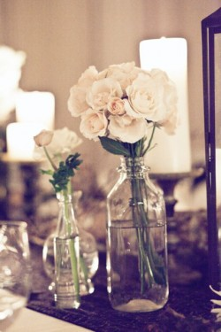 Glass Jar Cluster Centerpiece