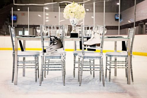 Hockey Theme Wedding Tabletop