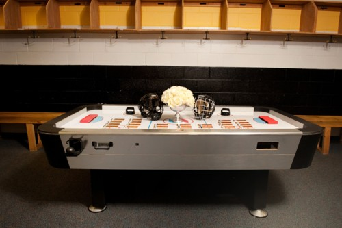 Hockey Wedding Ideas Escort Table