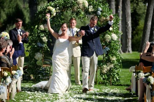Hydrangea Arch Ceremony
