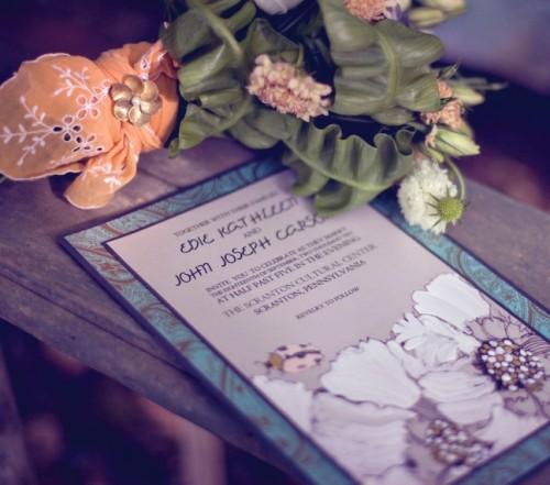 Illustrated Wedding Invitation Momental Designs