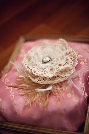 Lace Flower and Feather Headpiece