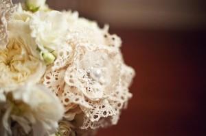 Lace Flowers in Bouquet