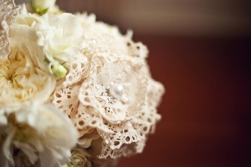 Lace Flowers in Bouquet