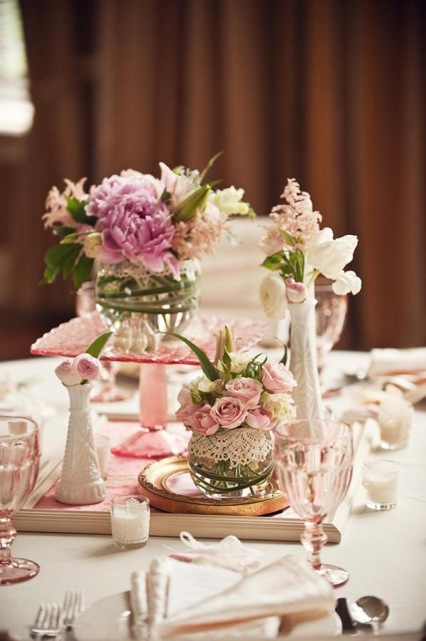 Lace Wrapped Glass Vases Unique Centerpiece Ideas Elizabeth Anne